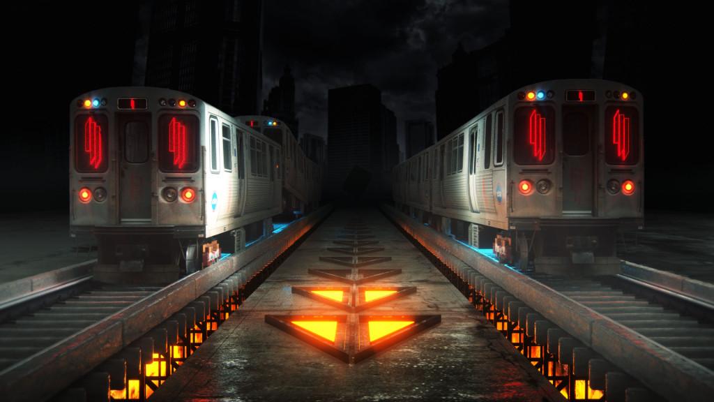 Skrillex Logo VJ Loop L Train