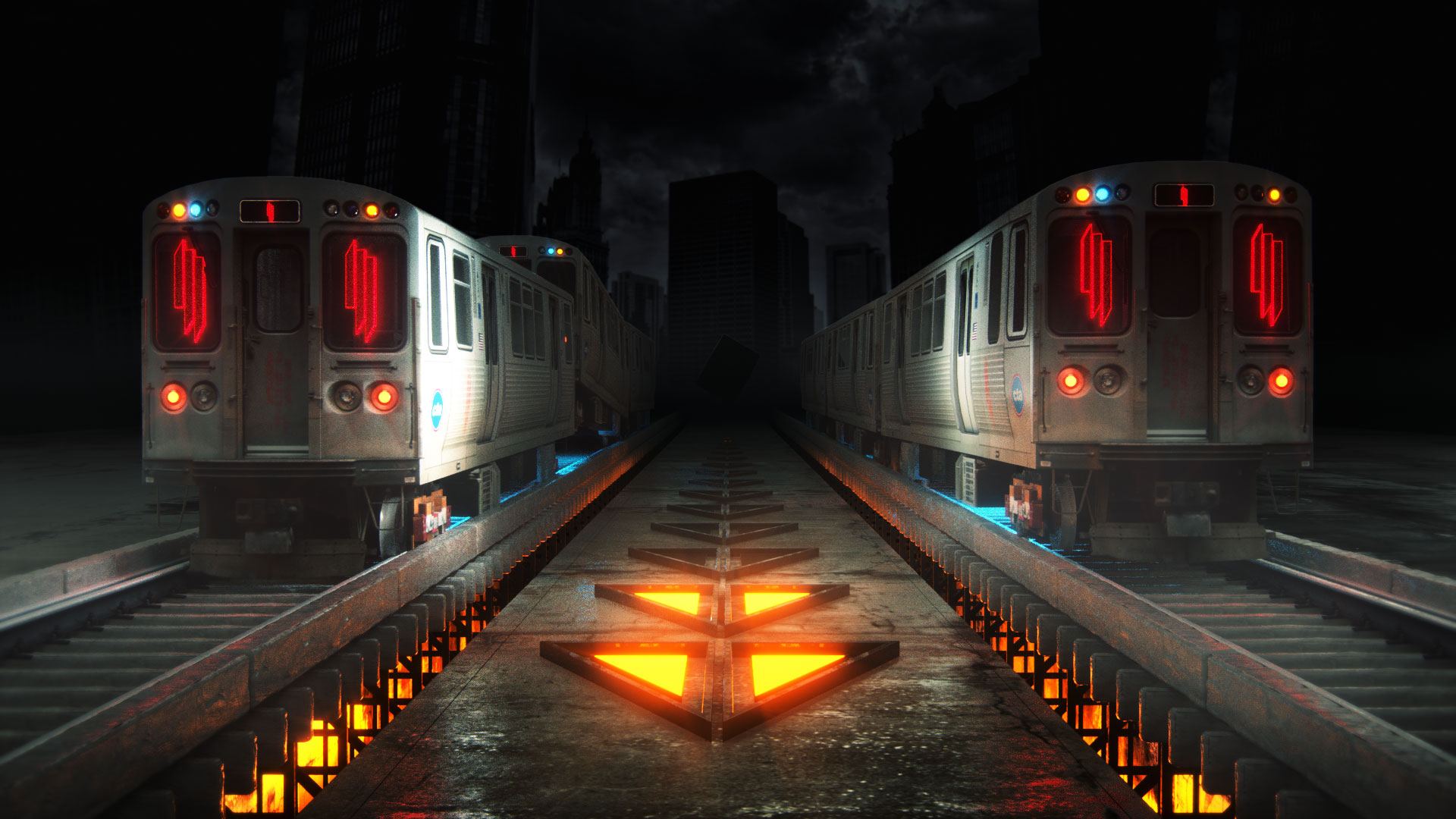 Skrillex Logo VJ Loop L Train